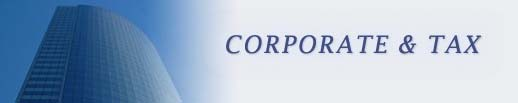 Corporate and Tax Practice